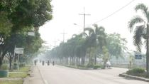 Asap Tipis Selimuti Kota Dumai Imbas Kebakaran Hutan dan Lahan