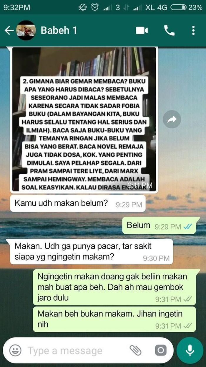 Kocak Begini Jika Netizen Chatting Orang Tua Soal Makanan