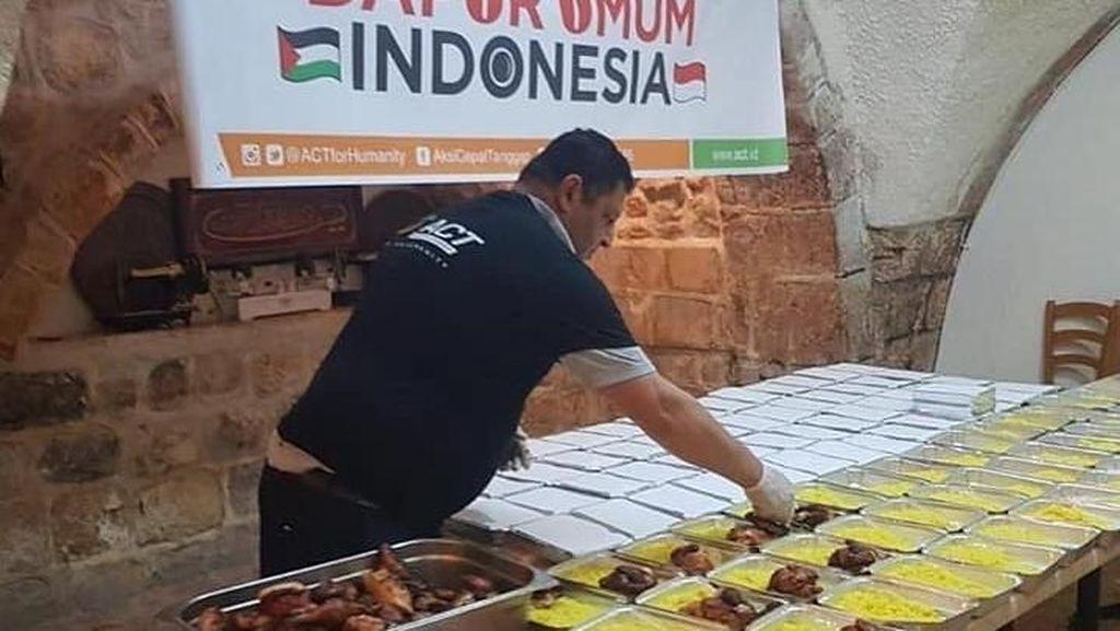 Ini Kesibukan Dapur Umum Indonesia di Palestina Saat Masak Ribuan Porsi Makanan