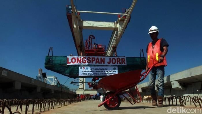 PT Adhi Karya telah merampungkan pembangunan jembatan 2 longspan. Maka secara struktur proyek LRT Jabodebek lintas pelayanan 1 telah tersambung.