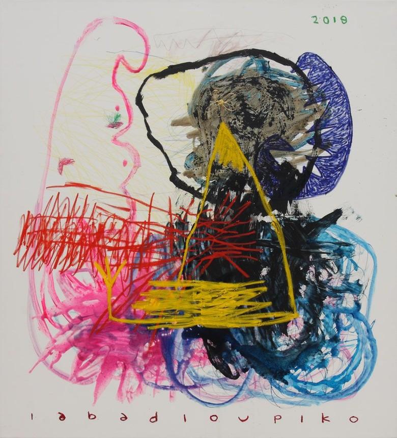 Seniman Iabadiou Piko Mejeng Karya di Art Central Hong Kong Foto: Art Central/ Istimewa