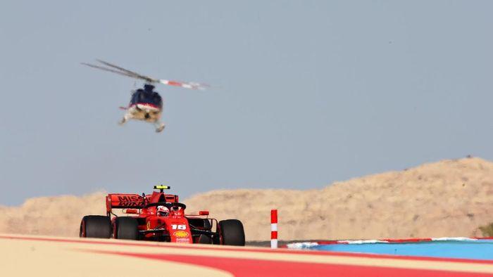 Charles Leclerc terdepan dalam FP III GB Bahrain 2019. (Charles Coates/Getty Images)