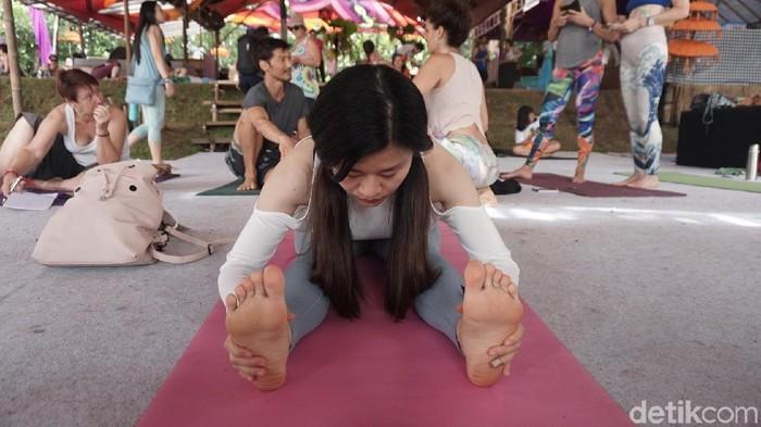 Yoga pada Bali Spirit Festival. Foto: Khadijah Nur Azizah/detikHealth