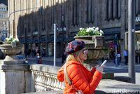 Wanita cantik dan modis di Dusseldorf (Wahyu/detikcom)