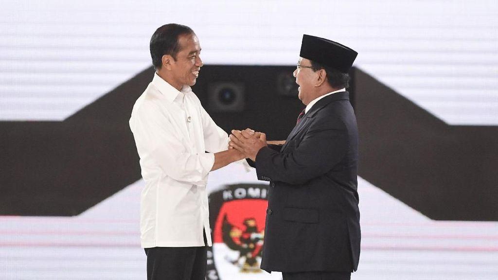 Real Count KPU 10%: Jokowi-Amin 54,08%, Prabowo-Sandi 45,92%