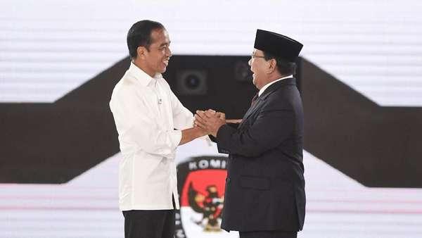 Momen Langka Jokowi dan Prabowo Pidato Bareng Tanggapi Pengumuman KPU
