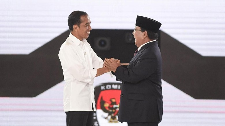 Quick Count LSI Denny JA 98,85%: Jokowi 55,71% Prabowo 44,29%