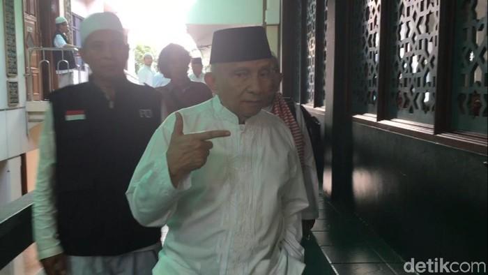 Amien Rais di Masjid Sunda Kelapa jelang apel siaga 313. (Foto: M Fida/detikcom)
