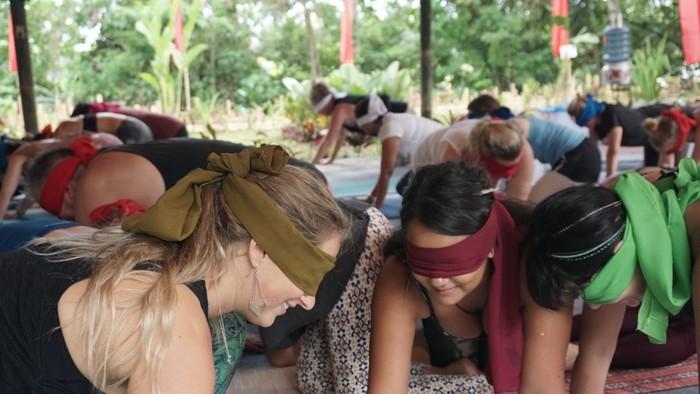 Pete, salah satu instrukturnya berujar ketika mata ditutup indra lain akan bekerja lebih baik. (Foto: Khadijah Nur Azizah/detikHealth)