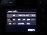 Megapixel canon eos 1500D.