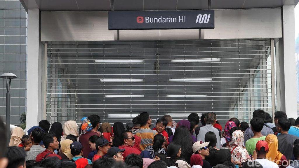 Lampaui Target, Penumpang MRT Jakarta Capai 91.000/Hari