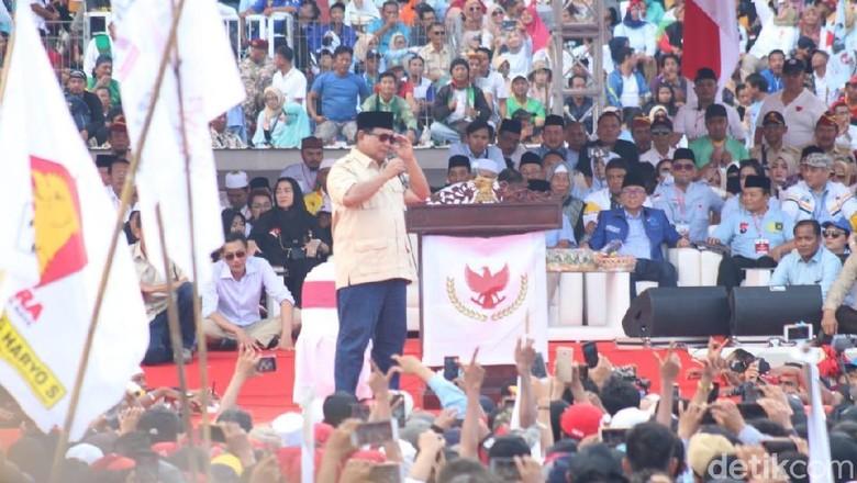 Foto: Kampanye Prabowo di Sidoarjo (Suparno/detikcom)
