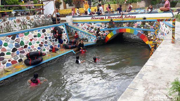 Saluran irigasi, Blawong Satu Riverside Tubing, Bantul.