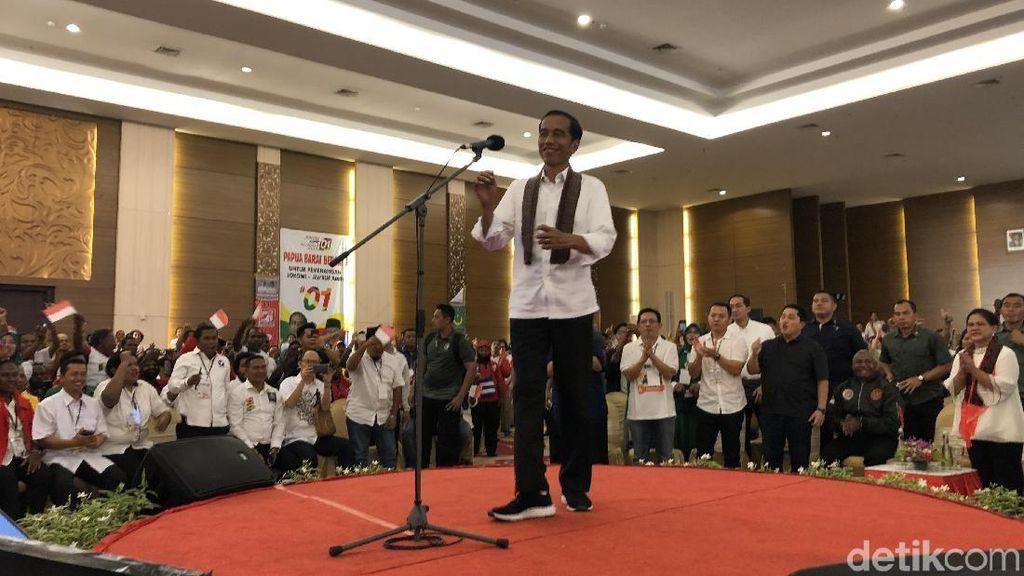 Kampanye di Papua Barat, Jokowi Targetkan Raup 80% Suara