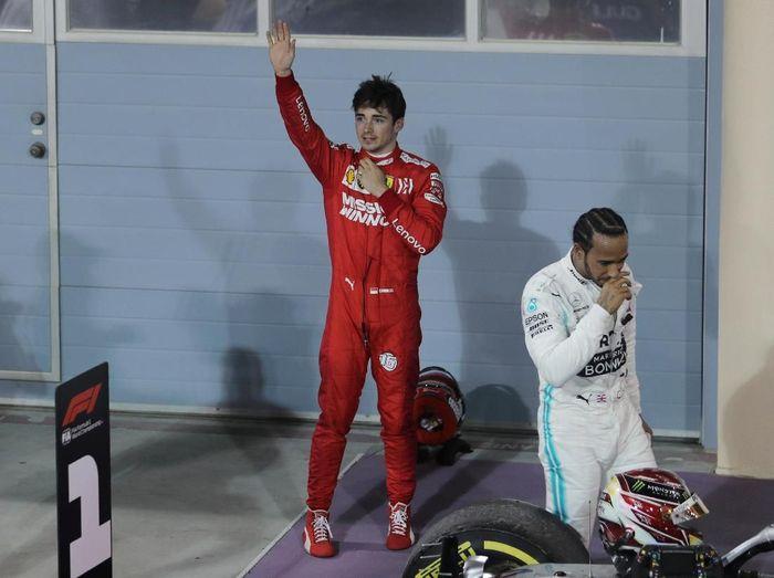 Charles Leclerc gagal menang setelah mobilnya mengalami masalah jelang balapan tuntas (REUTERS/Hamad I Mohammed)