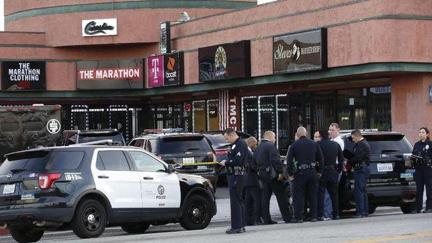 Polisi menginvestigasi penembakan di LA yang menewaskan Nipsey Hussle.