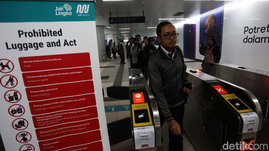 Layanan Tiket Bermasalah, MRT Jakarta Gratis (Lagi)