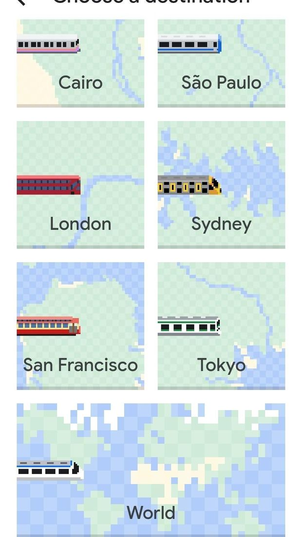 Pilihan kota untuk main Snake