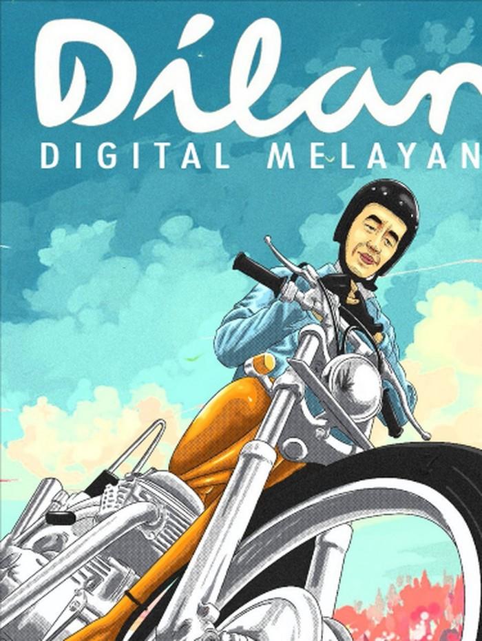 Salah satu meme Dilan-Jokowi yang beredar di media sosial