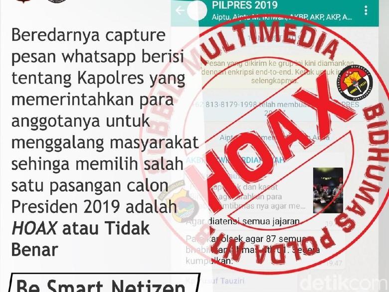 Polda NTB Telusuri Penyebar Hoax Screenshot Grup WA Polisi Dukung 01
