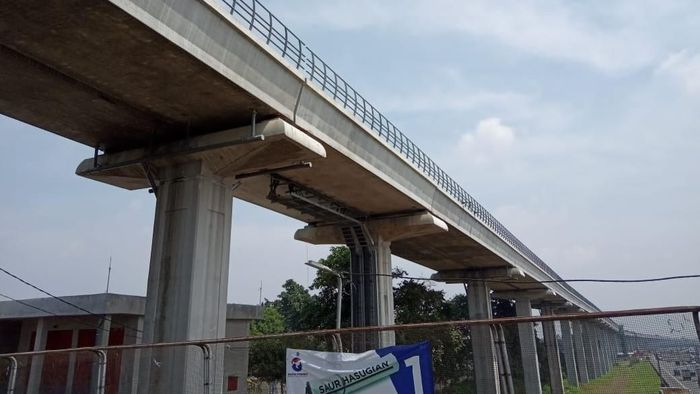 Proyek LRT Jabodebek/Foto: Herdi Alif Al Hikam