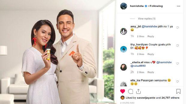 Postingan Hamish Daud di Instagram.