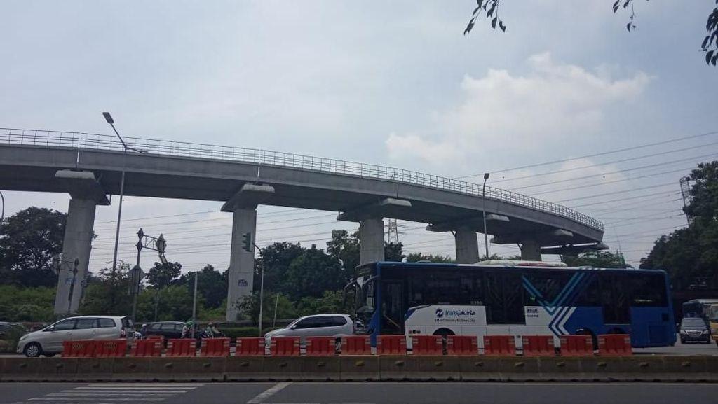 September, 2 Km Jalur LRT Cibubur-Cawang Bakal Dijajal