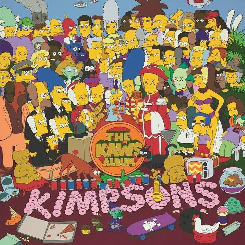 Wah! Lukisan KAWS Ala The Simpsons Ini Terjual di Hong Kong Rp 210 Miliar Foto: Istimewa/ KAWS