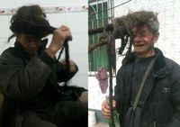 Penampilan Ake Yizhang dengan rambutnya yang tak pernah dipotong selama 54 tahun