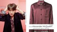 J-Hope terlihat sangat kece dengan kemeja seharga Rp 28 juta dan jas hitam.Dok. Twitter/getonswag