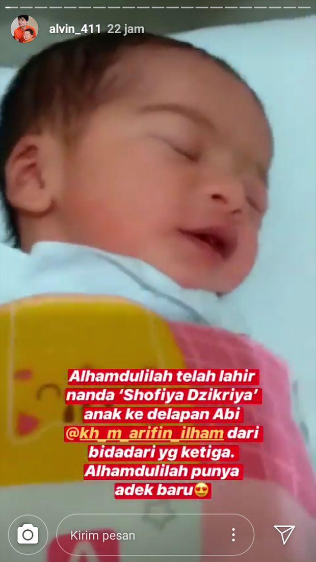 Wah! Istri Ke-3 Melahirkan, Ustaz Arifin Ilham Dikaruniai Anak ke-8