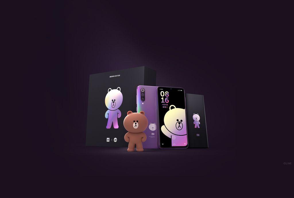 Xiaomi berkaloborasi dengan Line menghadirkan Mi 9 edisi Brown Bear. Foto: Xiaomi