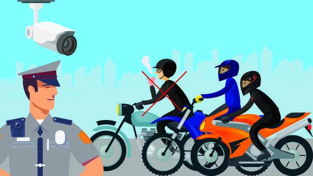 Peraturan Menteri Perhubungan RI Nomor PM 12 tahun 2019 pasal 6 tentang Perlindungan Keselamatan Pengguna Sepeda Motor tepatnya untuk larangan merokok sambil berkendara mulai dijalankan.