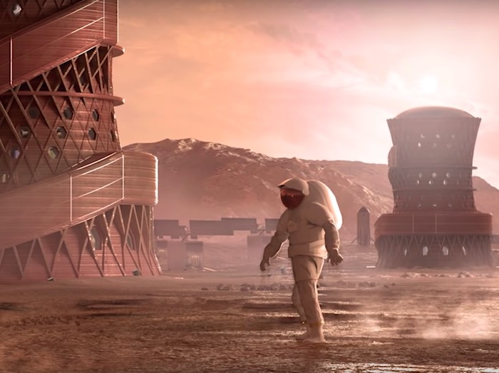Ilustrasi kolonisasi Mars. Foto: istimewa