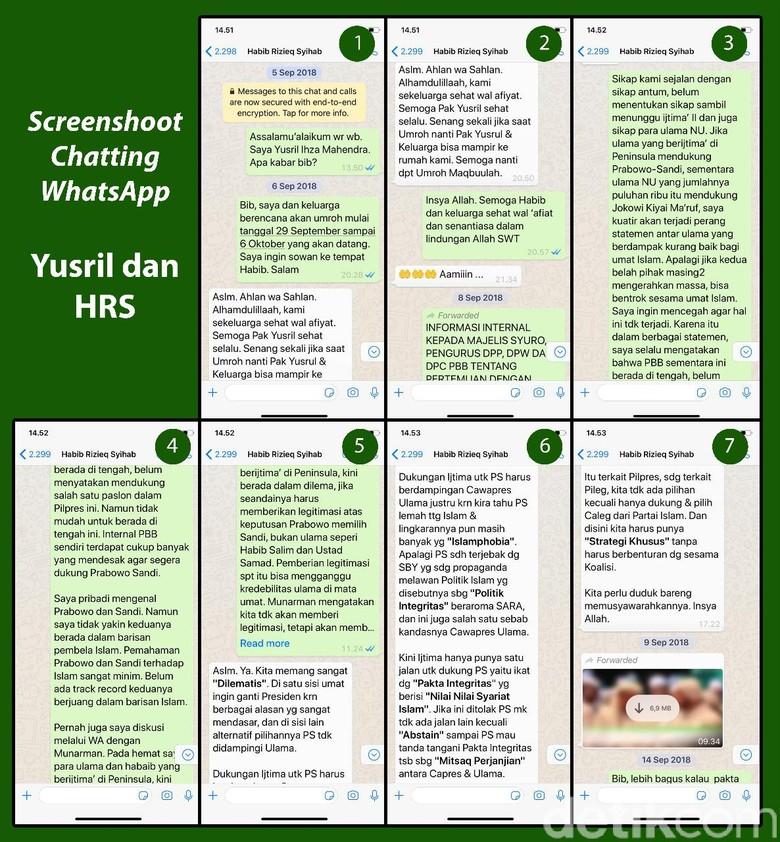Yusril Ungkap Transkrip Lengkap Habib Rizieq Ragukan Keislaman Prabowo