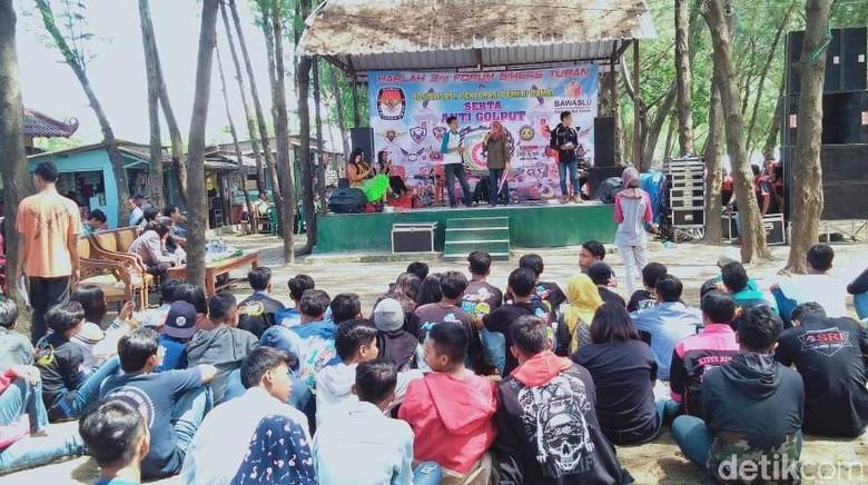 Ratusan Bikers Tuban Gelar Deklarasi Pemilu Damai dan Anti Golput
