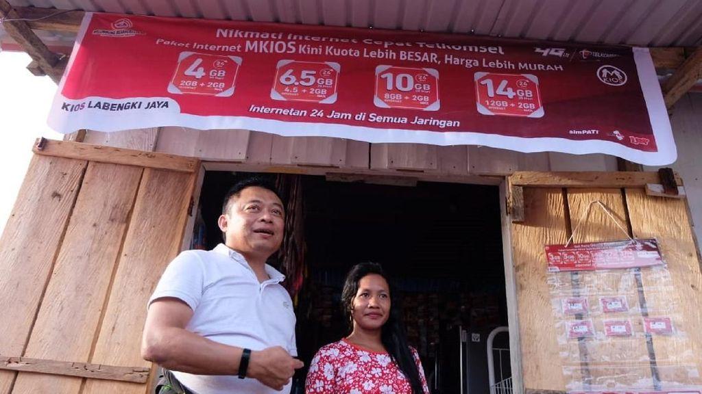 Telkomsel Tancap 4G di Desa Raja Ampat Sulawesi