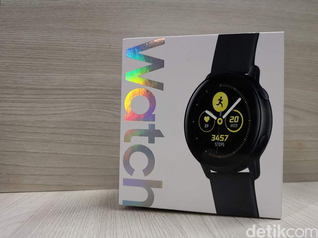 Galaxy Watch Active mendukung hingga 39 aktivitas di dalamnya dan mempunyai baterai 230 mAh.Foto: detikINET/Anggoro Suryo Jati