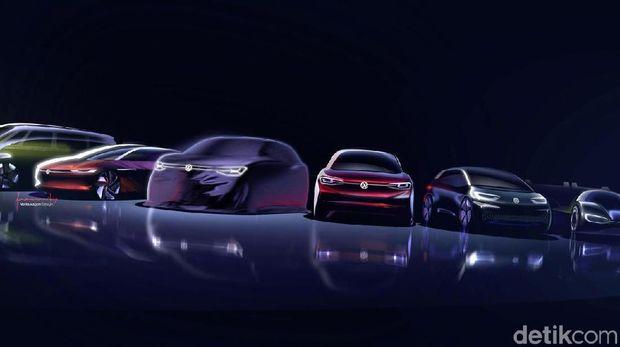 Line up keluarga mobil listrik VW ID.