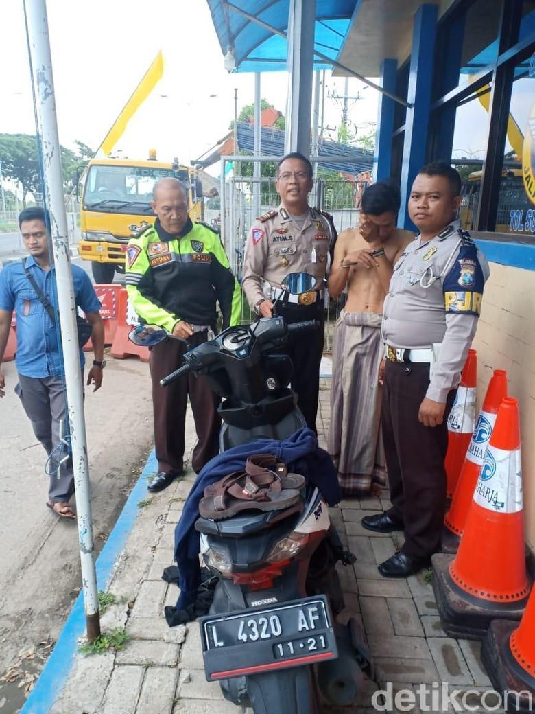 Pencuri Motor di Surabaya Diringkus Petugas PJR di Jembatan Suramadu