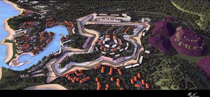 MotoGP memamerkan kecantikan Sirkuit Mandalika, arena yang akan dipakai untuk balapan di Indonesia pada 2021 (MotoGP.com)