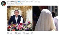 Ejekan McGregor untuk istri Khabib di Twitter sebelum dihapus.