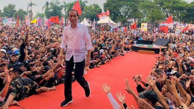 Jokowi saat berkampanye di Pilpres 2019.