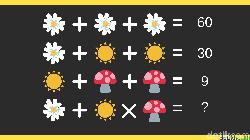 Yakin dengan kemampuan otak kamu menyelesaikan masalah matematika sederhana? Coba pecahkan teka-teki asah otak ala detikHealth berikut.