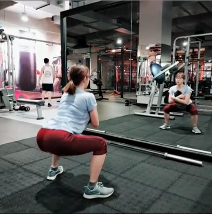 Kepada detikHealth, Kimi menyebut olahraga favoritnya adalah functional training. (Foto: Instagram/kimi.hime)