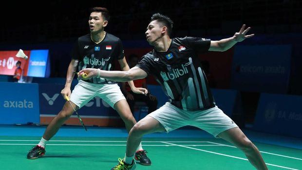 Fajar Alfian/Muhammad Rian Ardianto berhasil lolos ke babak semifinal.