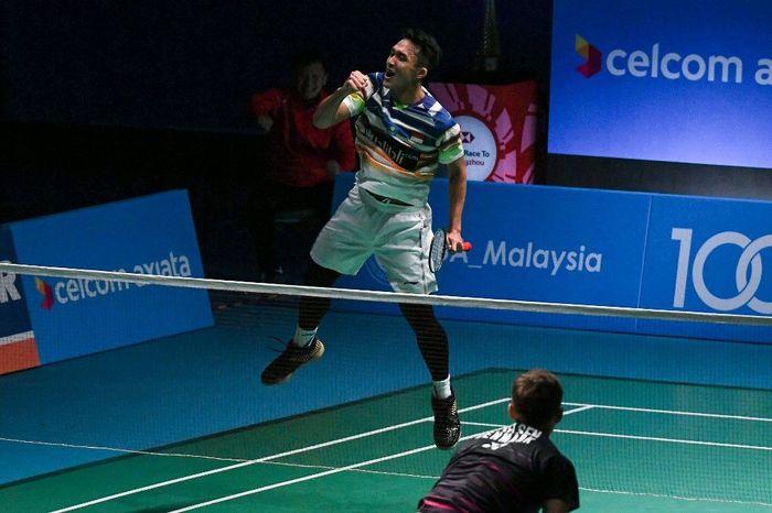 Jonatan Christie lolos ke semifinal Malaysia Terbuka 2019. (Mohd RasfanAFP)