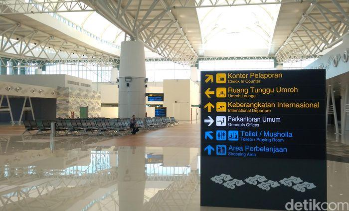 Bandara Internasional Jawa Barat (BIJB) atau Bandara Kertajati, Majalengka yang beroperasi belum genap satu tahun itu masih sepi penumpang.