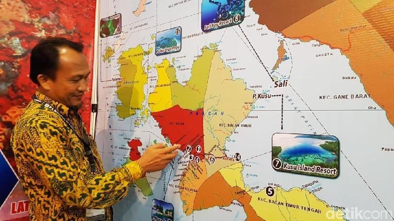Booth Kabupaten Halmahera Selatan di Deep and Exreme 2019 (Randy/detikcom)