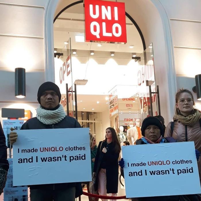 Penjahit Indonesia Demo Uniqlo Jepang Hingga Denmark